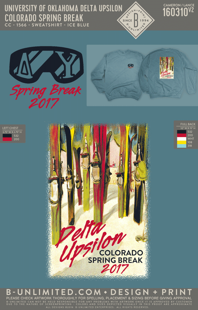 OU Delta Upsilon - Colorado Spring Break (Sweatshirt)