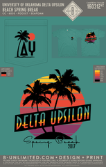 OU Delta Upsilon - Beach Spring Break (SS Seafoam)