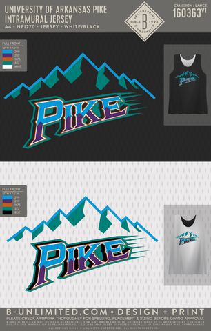 UofA Pike - Intramural Jersey (White/Black)