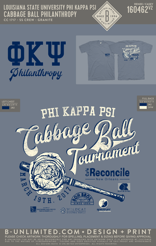 LSU Phi Kappa Psi - Cabbage Ball Philanthropy