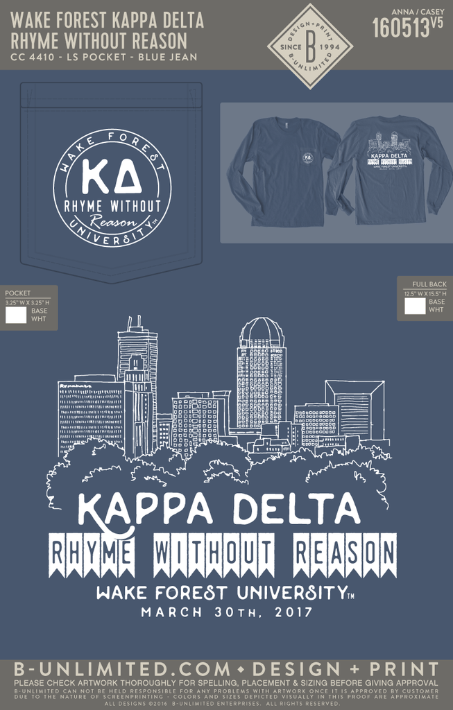 Wake Forest Kappa Delta - Rhyme Without Reason (LS)