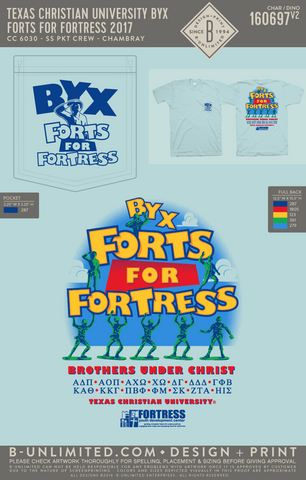 TCU BYX - Fort for Fortress 2017 (Chambray)