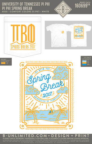 Tennessee Pi Phi - Pi Phi Spring Break (T-Shirt)