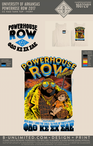 UofA Row Week - Powerhouse Row 2017 (Tank Ivory)