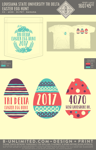 LSU Tri Delta - Easter Egg Hunt