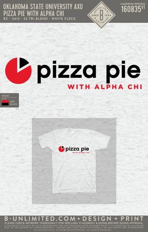 OSU AXO - Pizza Pie with Alpha Chi (SS Tri Blend)