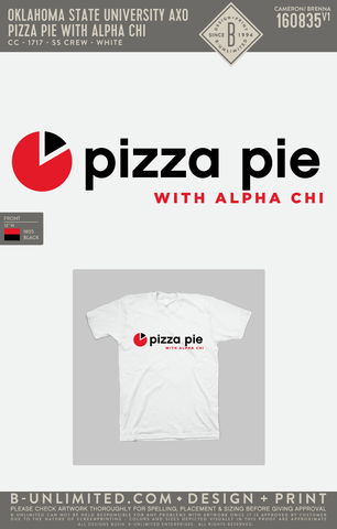 OSU AXO - Pizza Pie with Alpha Chi (SS Comfort Colors)