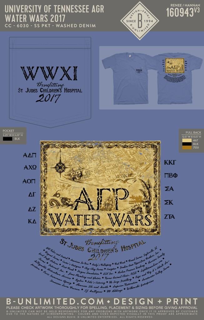 Tennessee AGR - Water Wars 2017 (WASHED DENIM)