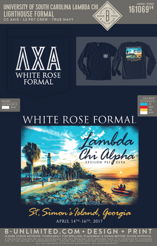USC Lambda Chi - Lighthouse Formal (LS True Navy)