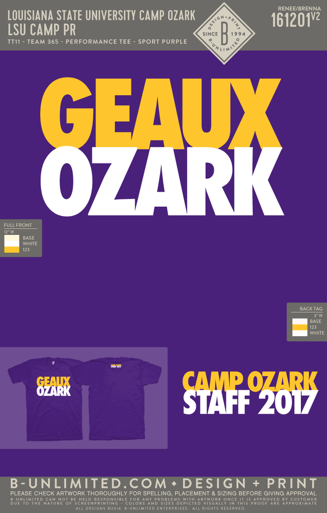 LSU Camp Ozark - LSU Camp PR