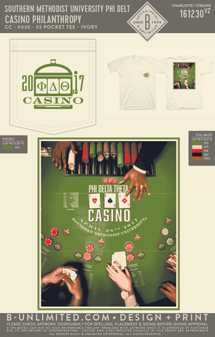 SMU Phi Delt - Casino Philanthropy (Short Sleeve)