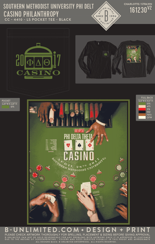 SMU Phi Delt - Casino Philanthropy (Long Sleeve)