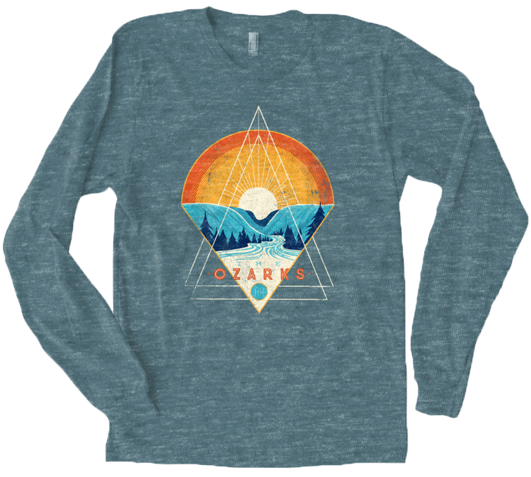 Ozarks Snow Cone LS T-Shirt Heather Slate