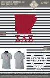 University of Arkansas SAE Game Day Polo 2017 (Black/White/White)