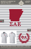 University of Arkansas SAE Game Day Polo 2017 (White/Wolf Grey/Black)