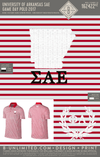 University of Arkansas SAE Game Day Polo 2017 (Red/White/White)