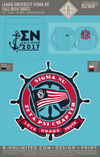 Lamar University - Sigma Nu - Fall Rush Shirts (LS Lagoon Blue)