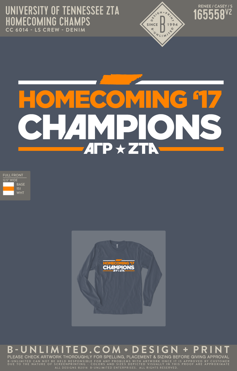 Tennessee ZTA - Homecoming Champs (Denim)