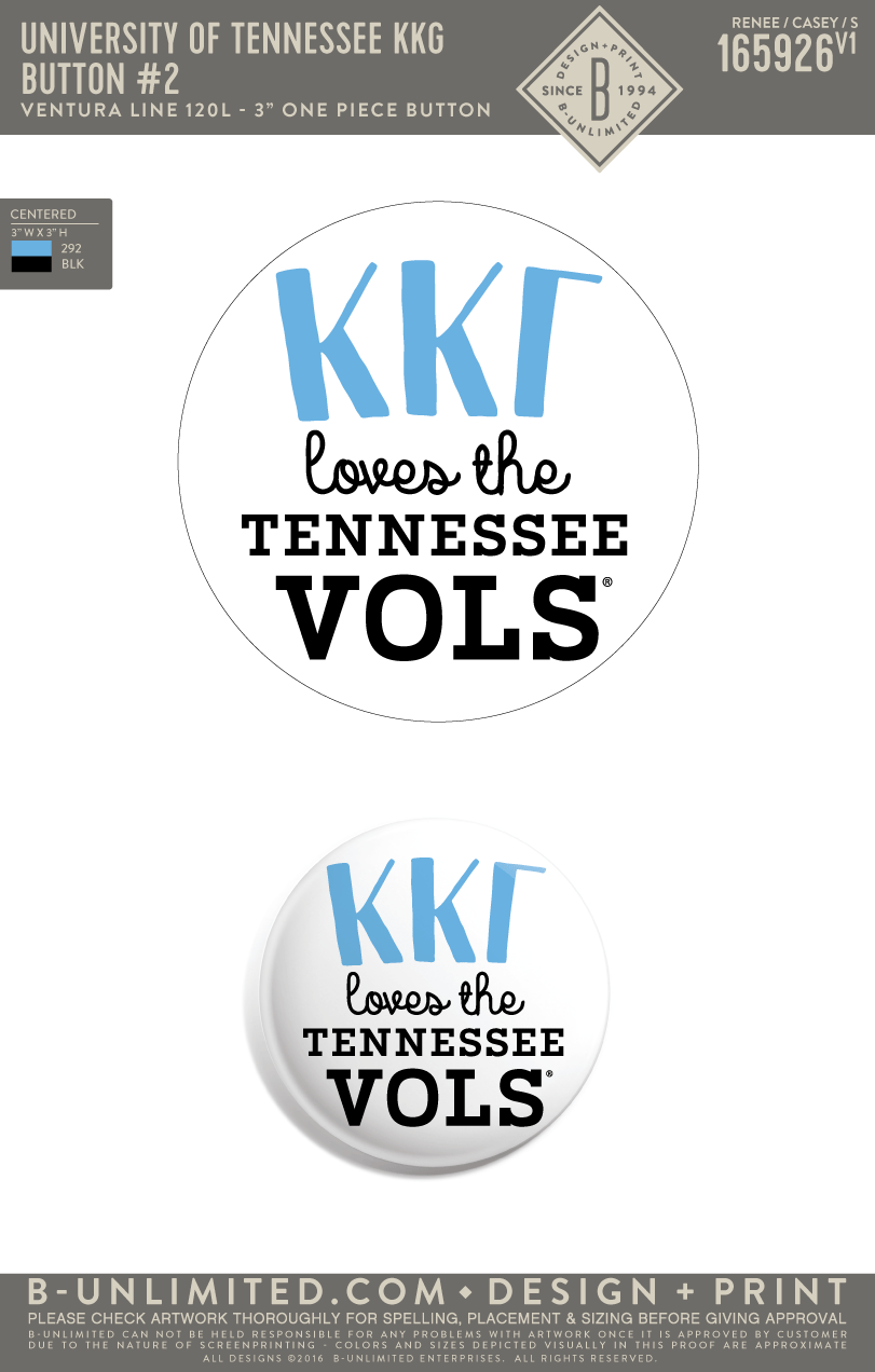 Tennessee KKG - Button