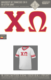 Tennessee Chi O - XO Letter Shirt
