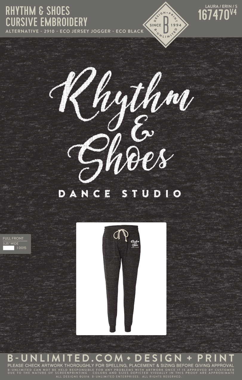 Rhythm & Shoes - Cursive Embroidery (ADULT JOGGER)