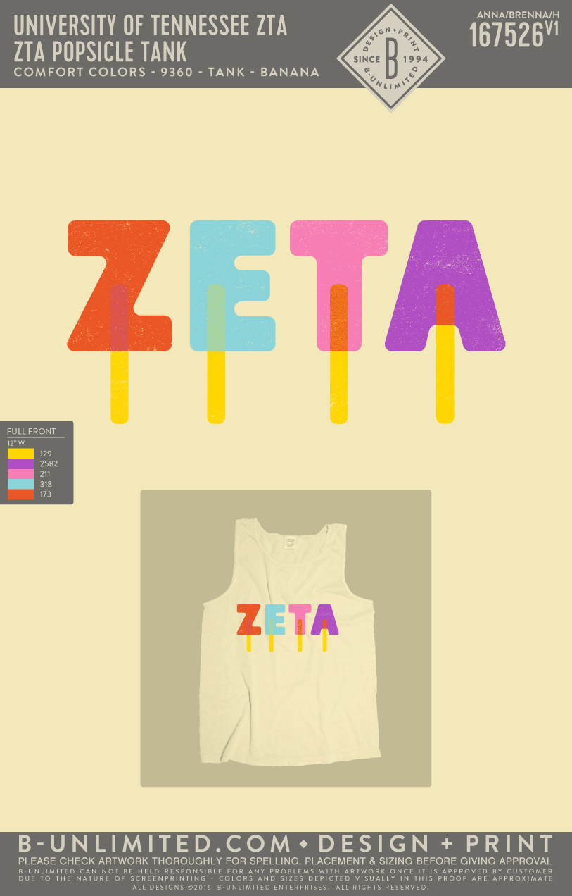 Tennessee ZTA - Popsicle Tank (Banana)