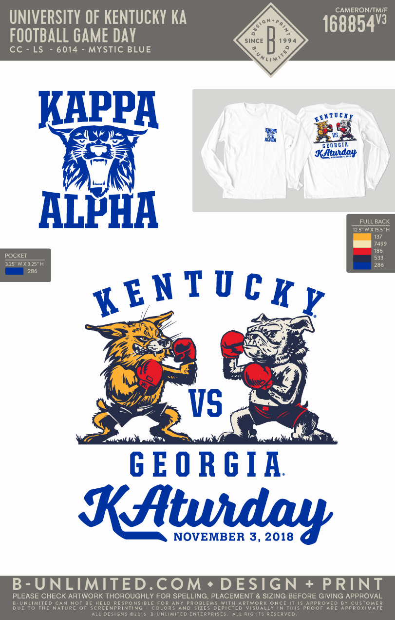UK KA - Football Game Day (LS White)