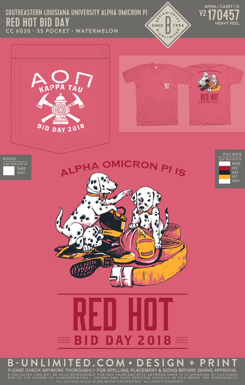 Southeastern Louisiana University - Alpha Omicron Pi - Red Hot Bid Day