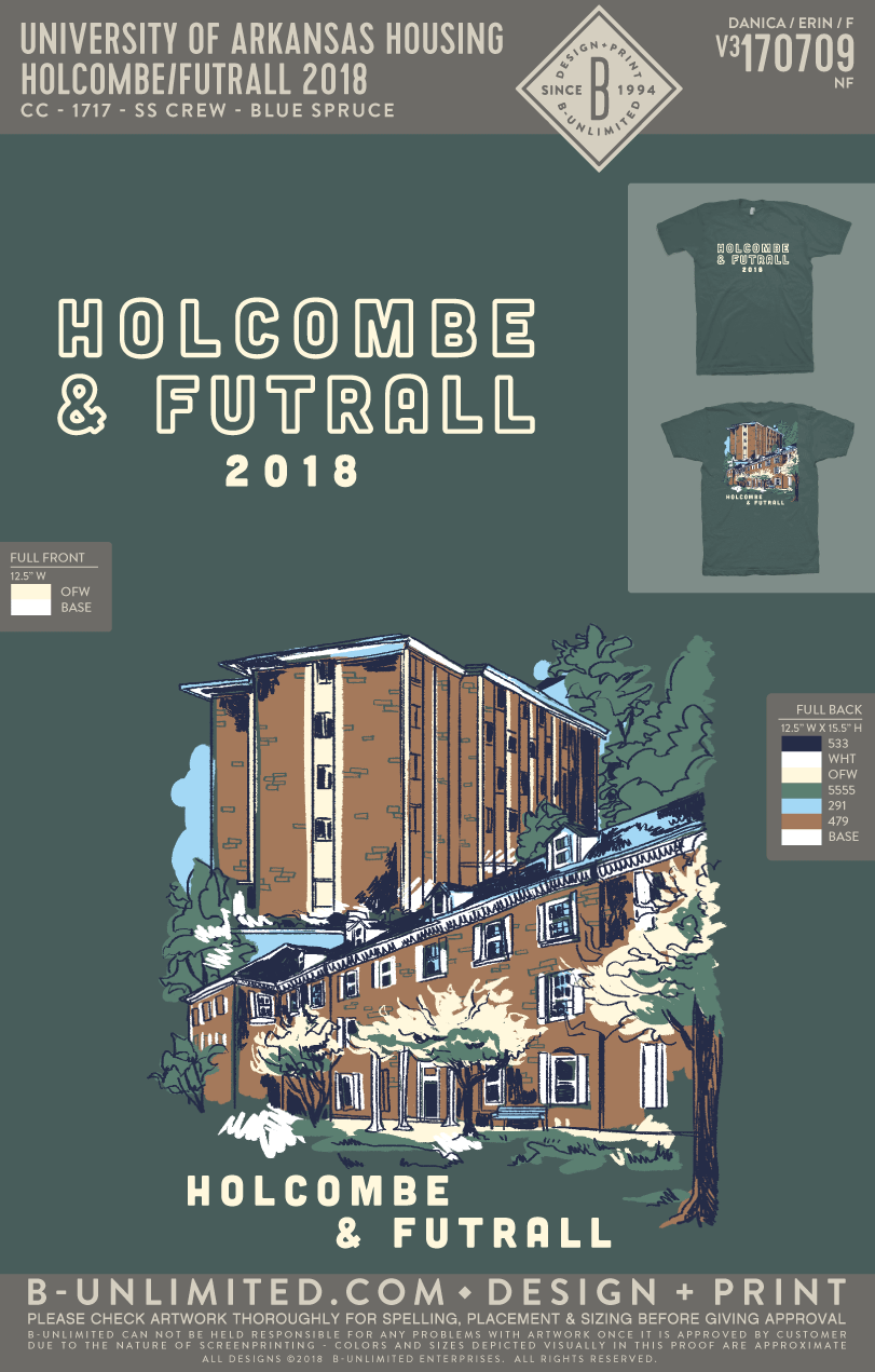 UofA Housing - Holcombe/Futrall 2018