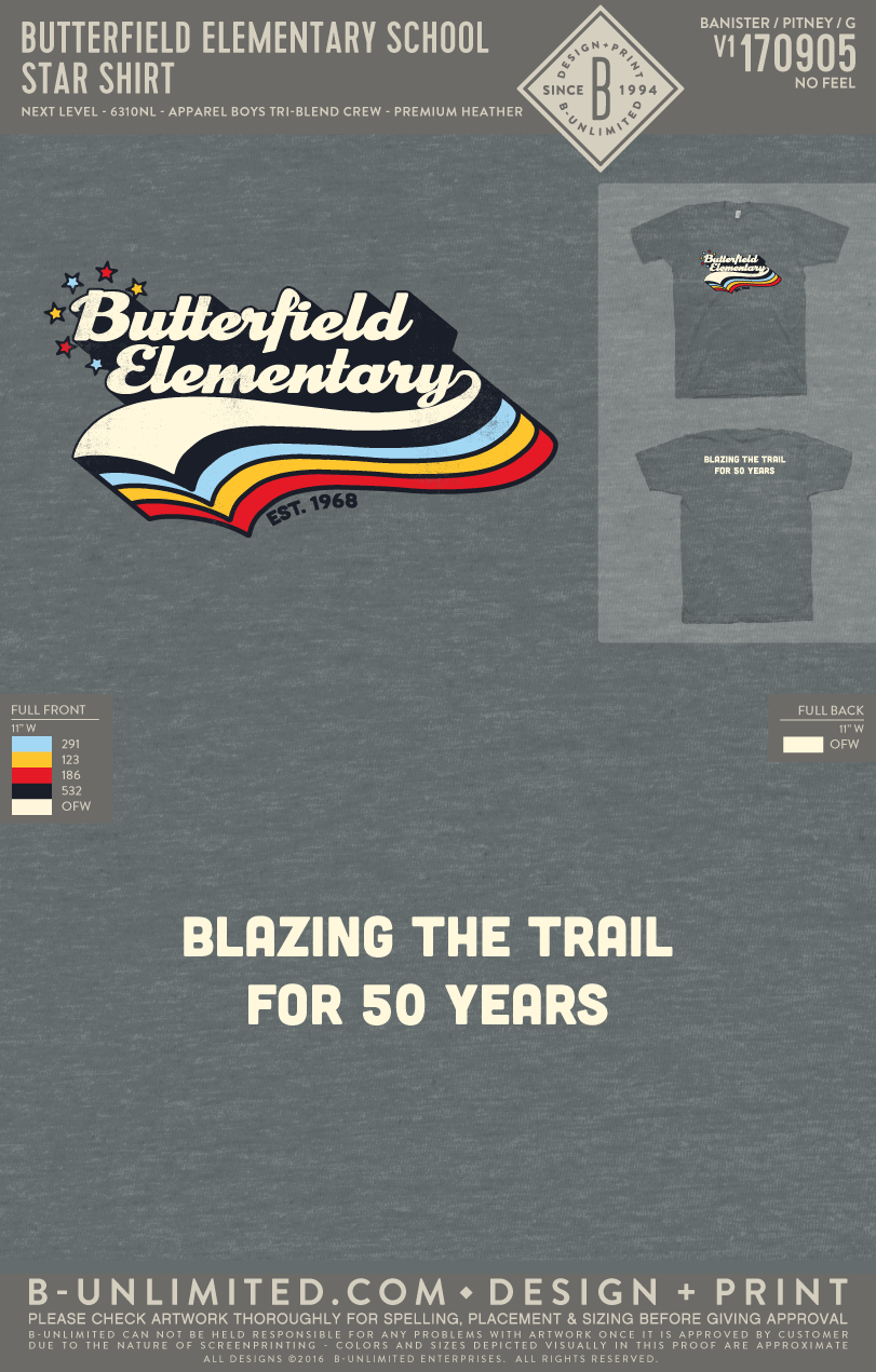 Butterfield Elementary School - Star Shirt (Youth)