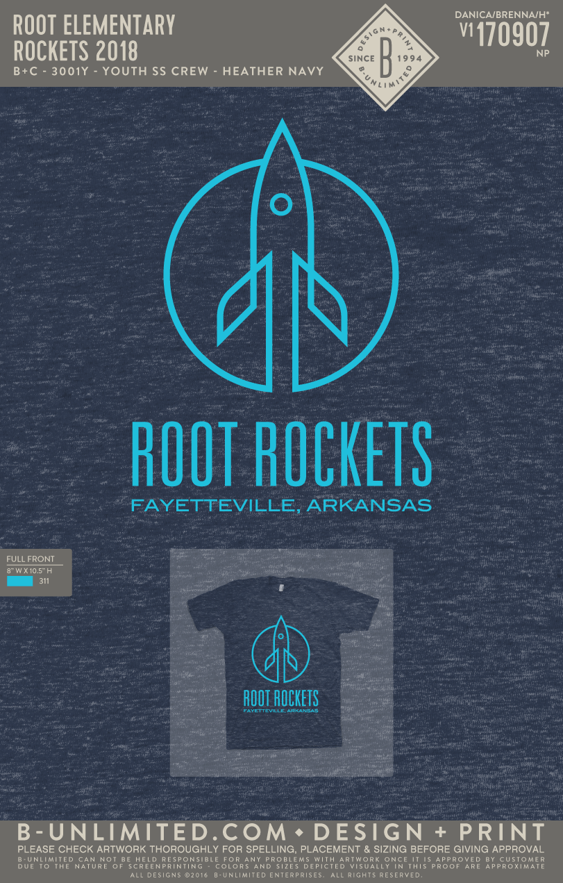Root Elementary - Rockets 2018 (Youth Heather Navy)