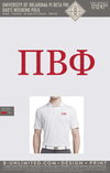 OU Pi Phi - Dad's Day Polo (White)