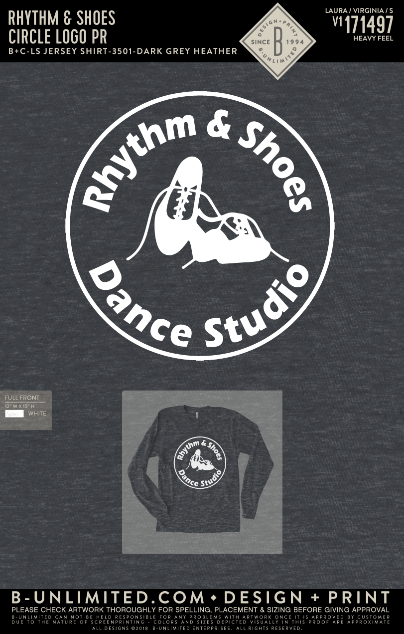Rhythm & Shoes - Circle Logo PR (Charcoal Grey Long Sleeve)
