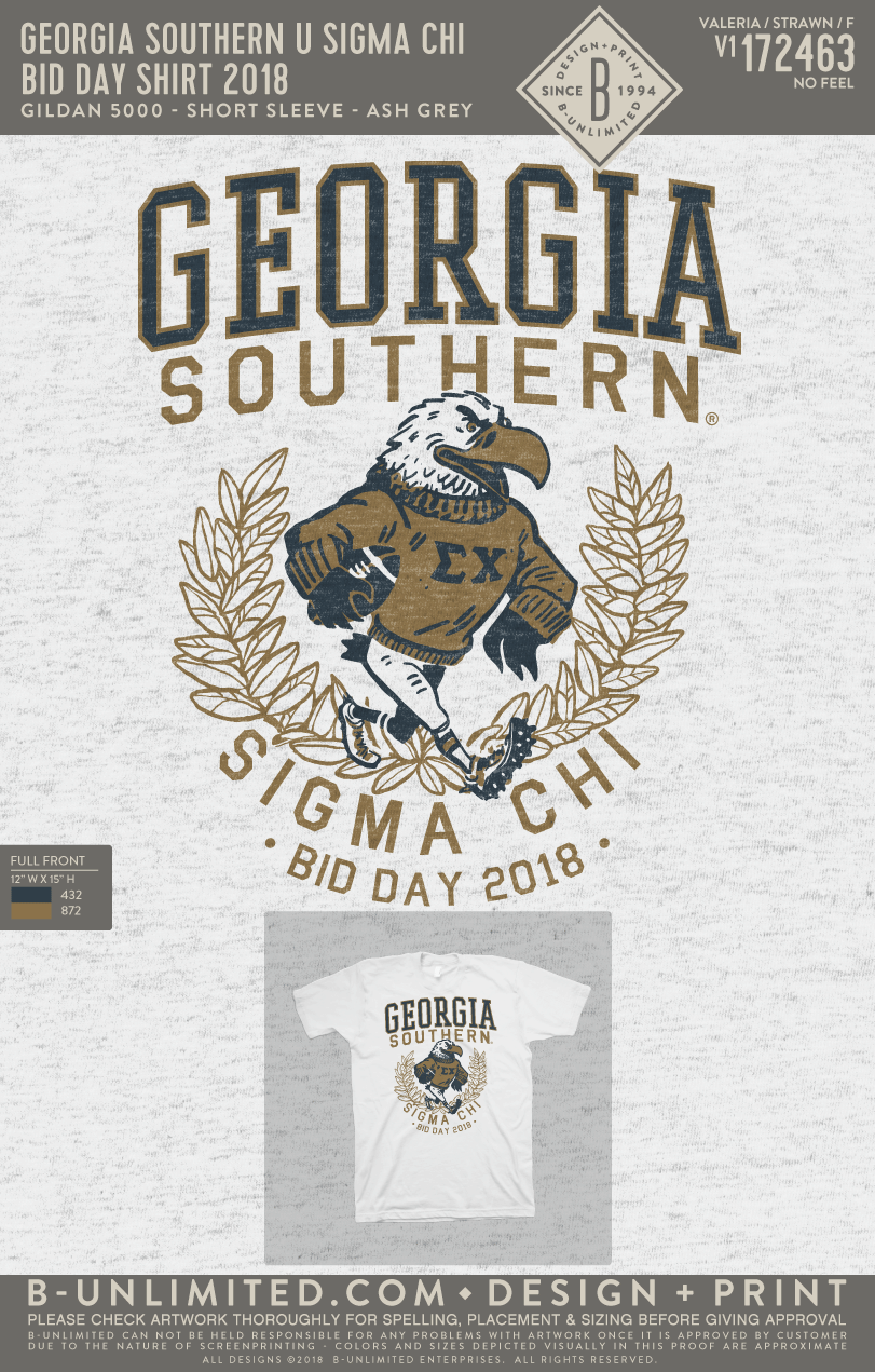 Georgia Southern Sigma Chi - Bid Day Shirt 2018