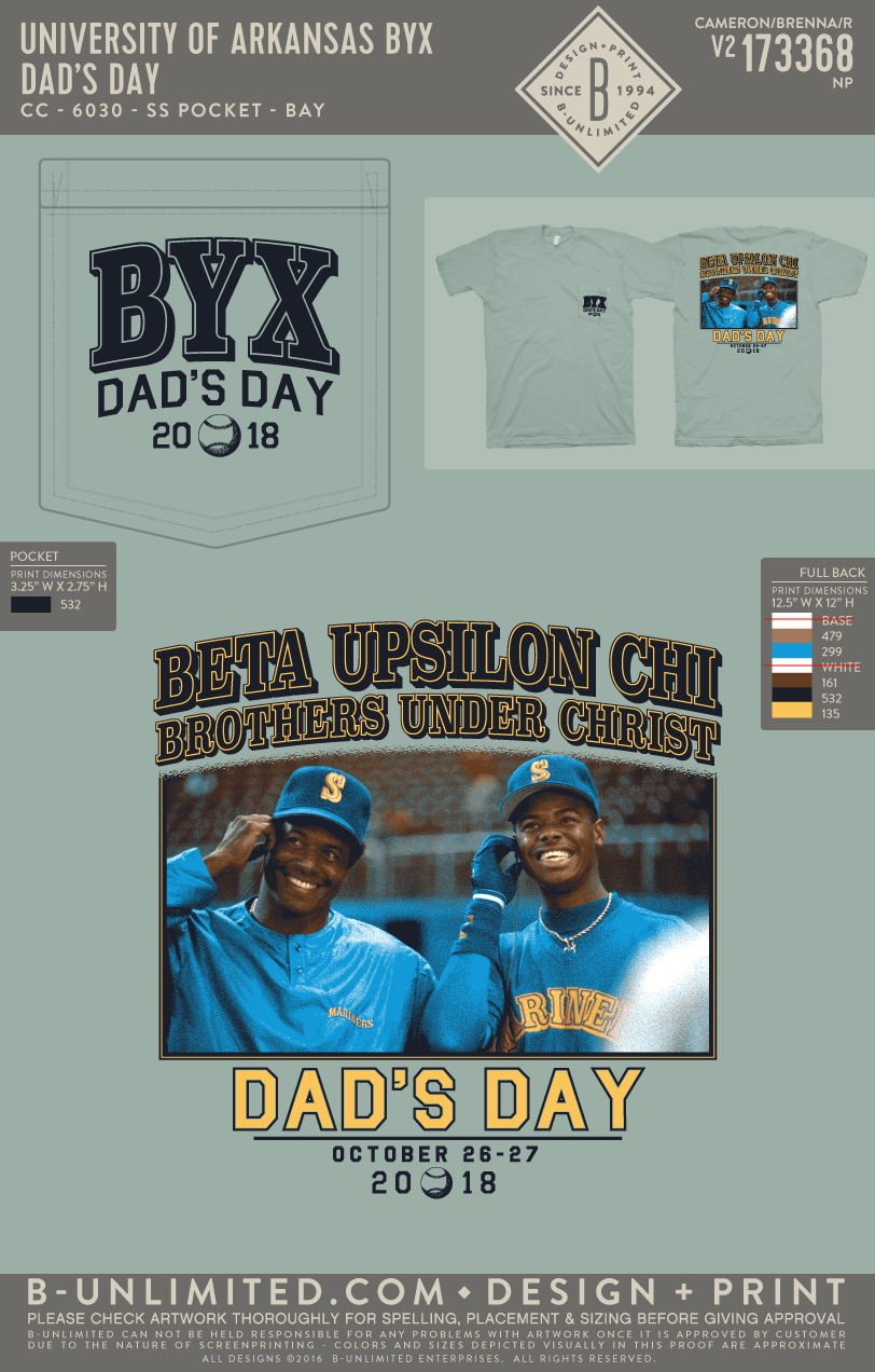 UofA BYX - Dad's Day (Bay)
