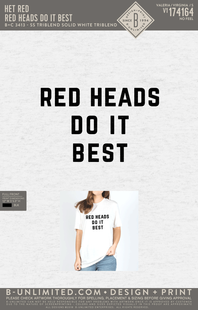 Hey Red - Red Heads Do It Best