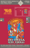 USC Chi O - Semi Formal Colorful (SS Red)