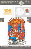 USC Chi O - Semi Formal Colorful (LS White)