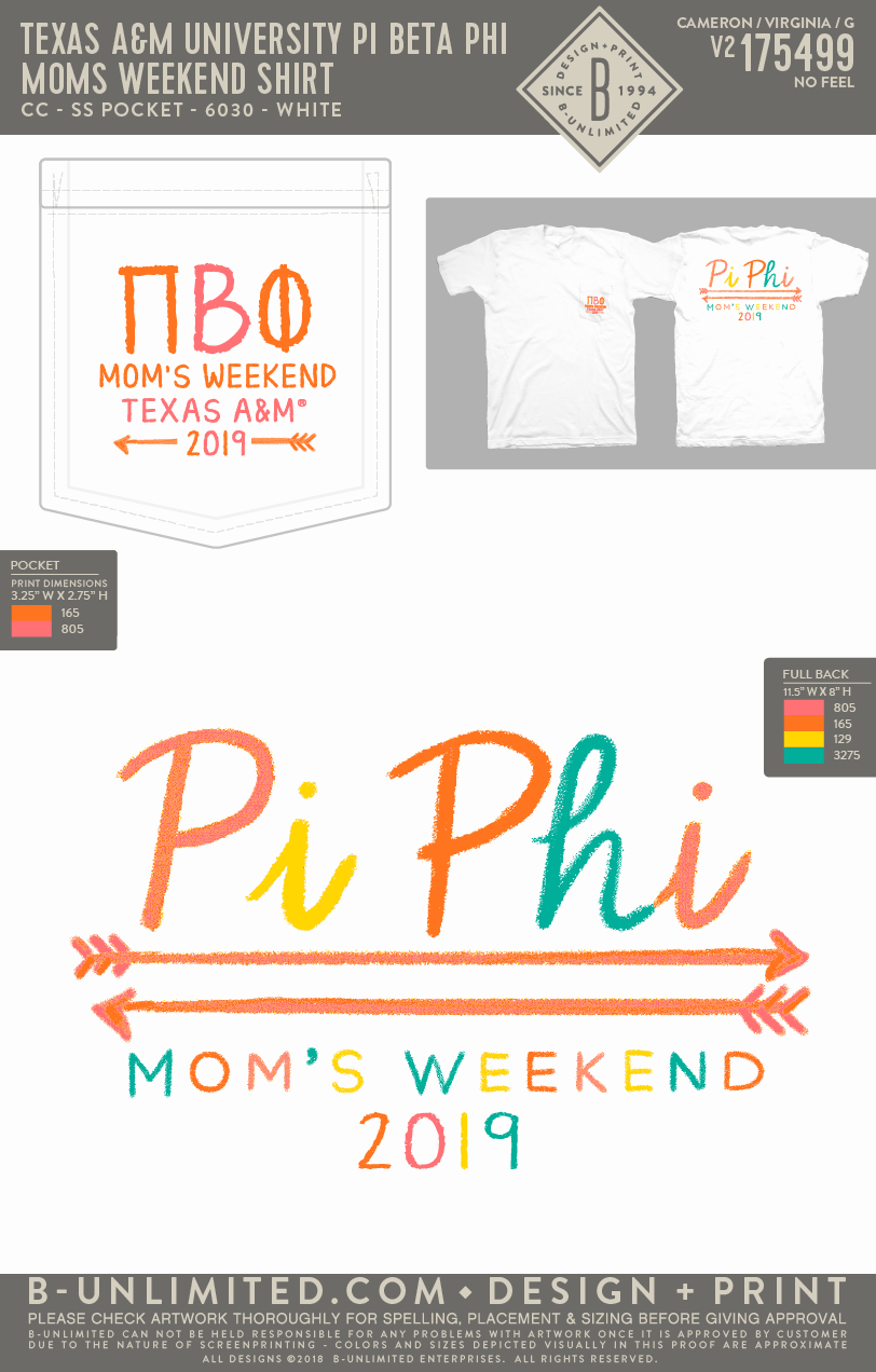 Texas A&M Pi Phi - Mom's Weekend Shirt
