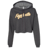 Far Out Fay Cropped Hoodie