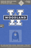 Woodland Junior High School - Woodland 2019 Shirt (Hoodie - Heather Royal)