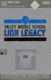 Valley Middle School - Legacy (Adult Athletic Grey)