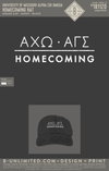 Mizzou Alpha Gamma Sigma - Homecoming Hat (Black with White Embroidery)
