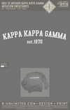 Reorder of Mizzou KKG Parents - Initiation Sweatshirt (Grey)