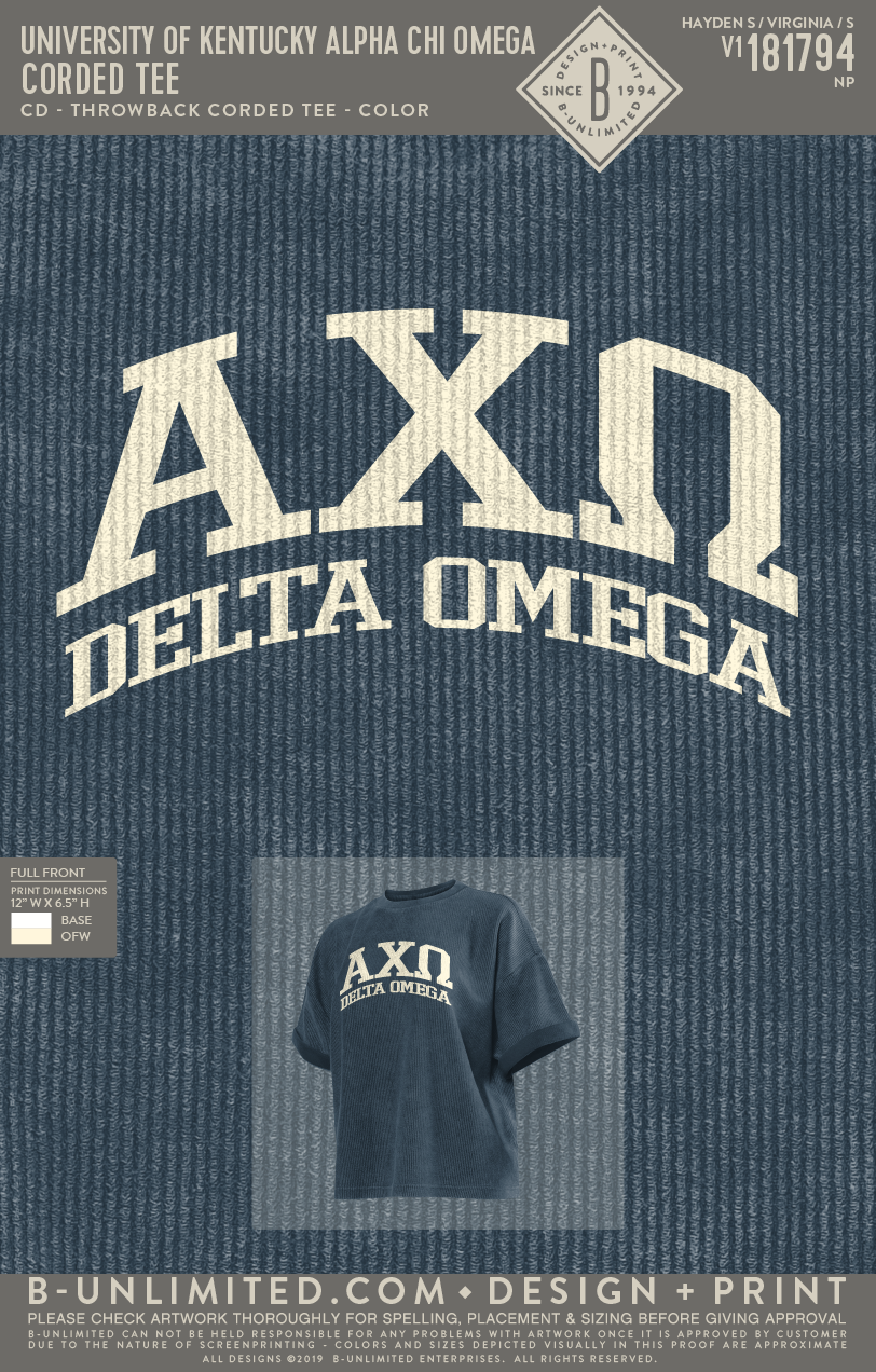 UK AXO - Corded Tee