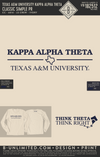 RO2 Texas A&M Theta - Classic Simple PR (Ivory LS)