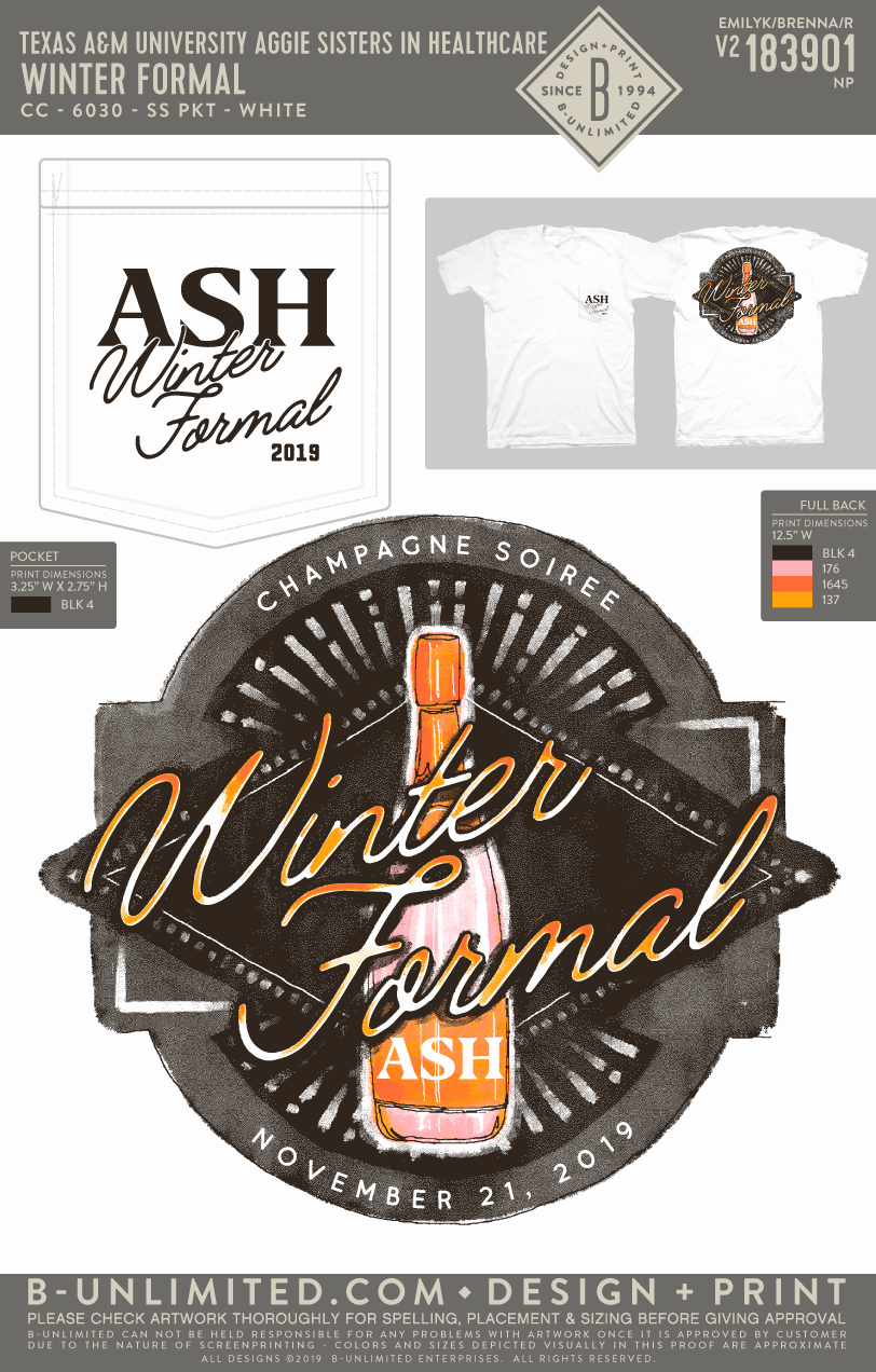 Texas A&M ASH  - Winter Formal (SS)