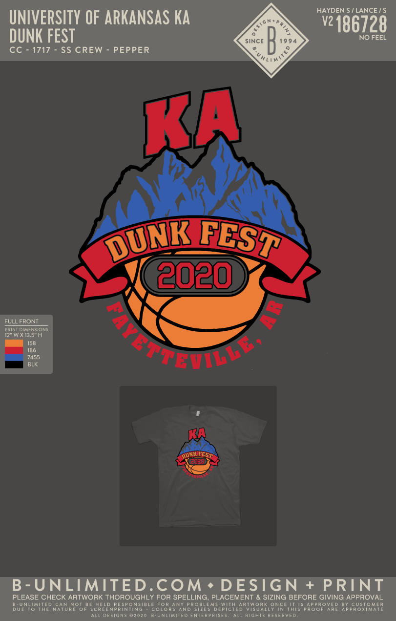 UofA KA - Dunk Fest (pepper)
