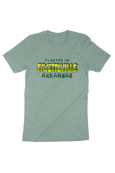 Planted in Fayetteville T-Shirt Dusty Blue