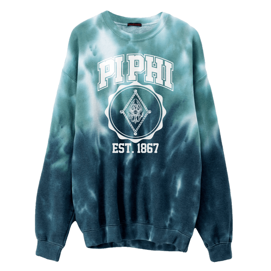 Tie-Dye Sorority Crest Sweatshirt Pi Beta Phi